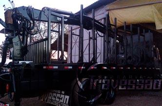 transporte de toras, paletes, madeira processada, cavacos e serragem